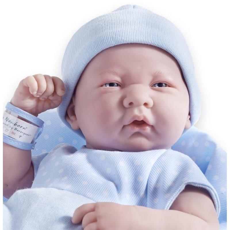 Lalka Bobas - noworodek ze szpitalną opaską - Berenguer
