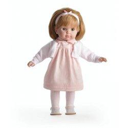 Lalka dziewczynka - długie blond włosy