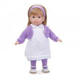 Lalka Dziewczynka Carla - blond włoski, biała sukienka