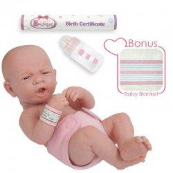 La Newborn Real Girl in Pink Diapers 36cm