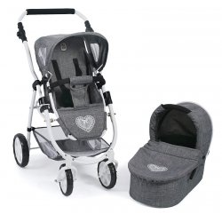 Pushchair for Dolls Kombi Emotions 2 in 1 - Pink