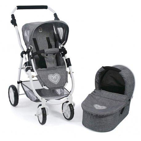 Wózek dla lalek Kombi EMOTION 2 w 1 - Szary Jeans