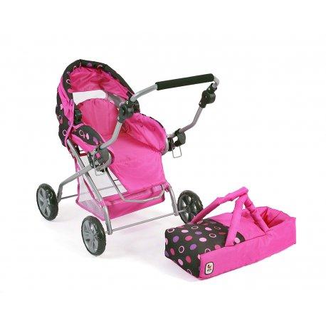 Wózek dla lalek Piccolina z wyciąganą gondolą - Bayer Chic 557 48