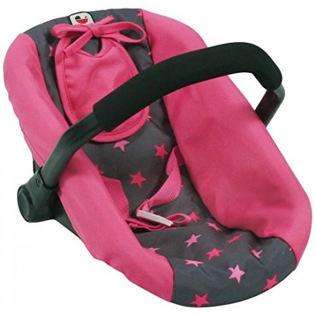 Dolls Car Seat, Dolls, Stars pink - Bayer Chic 708 82