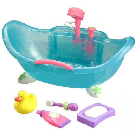 Wanienka dla małej lalki z akcesoriami i prysznicem - JC Toys