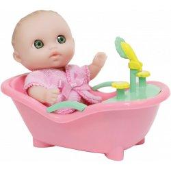 Mała laleczka w różowej wanience - Lil' Cutesies - JC Toys 16912