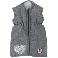 Doll's Sleeping Bag for Baby Dolls, jeans grey - Bayer Chic 2000 792 76