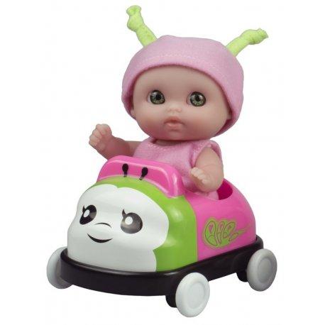 Mała laleczka w różowym autku - Mini Lil' Cutesies