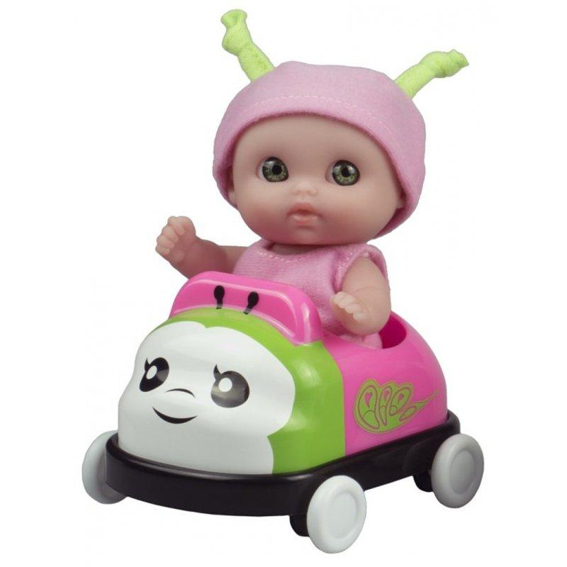 Mała laleczka Lil' Cutesies w różowym autku - JC Toys 16926
