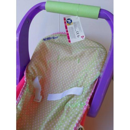 Fotelik dla lalki z ruchomą rączką - JC Toys
