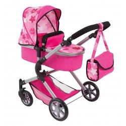 Wózek dla lalek - City Neo, Pink Stars