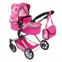 Wózek Gondola dla lalek   Spacerówka - City Neo, Pink Stars