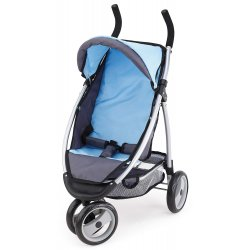 Wózek spacerówka dla lalki, nowoczesny Jogger Sport, blue