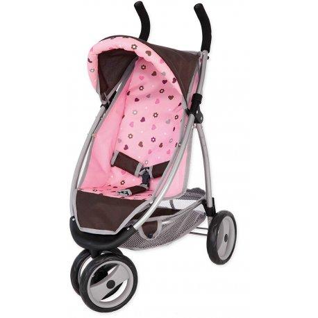 Wózek trójkołowy dla laki - Jogger Sport, chocolate pink