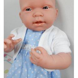 Sukienka dla lalki w groszki, bolerko