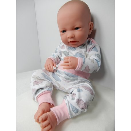 Komplet dla lalki w chmurki, na lale 41 do 44cm