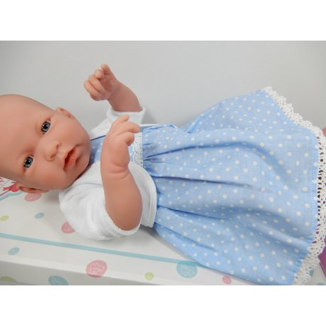 Sukienka dla lalki w groszki, bolerko, rozmiar jak na baby born