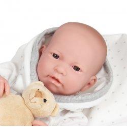 Realistic Baby Doll Boy Nino - 43 cm