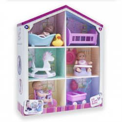 Domek dla małych lalek z lalkami i akcesoriami - Lot's to Love