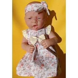 Sukienka dla lalki 36 do 39cm, w kwiatuszki