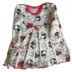 Sukienka dla lalki w słodkie pandy - rozmiar M