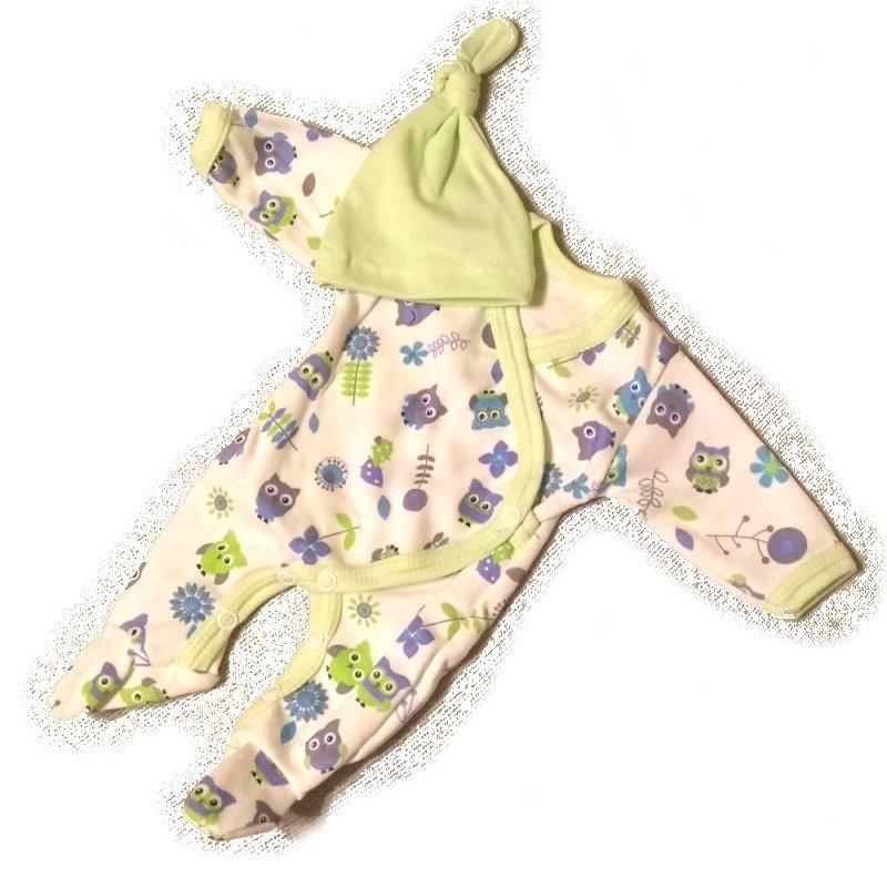 Ubranko dla lalki bobas - Pajacyk w sówki - lalki 36 - 40 cm