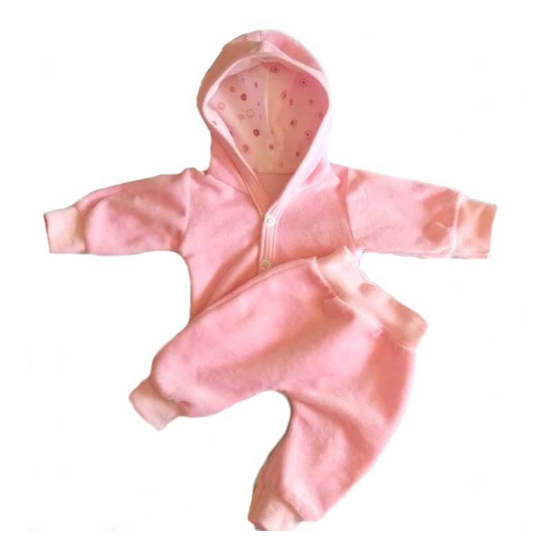 Ubranko dla lalki - różowy dres - dla lalek do 45 cm