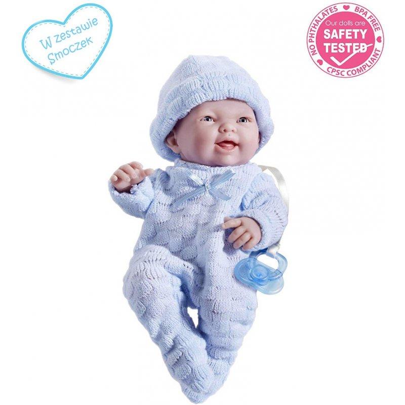 JC Toys 18452 - Lalka bobas jak prawdziwe dziecko w zestawie ze smoczkiem