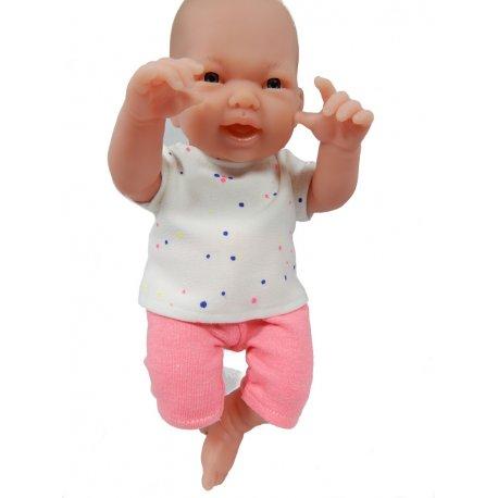 Ubranko dla lalki 25 cm - zestaw w kropeczki