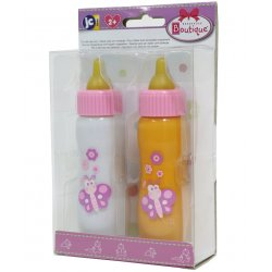 Bottle with Milk for Baby Dolls