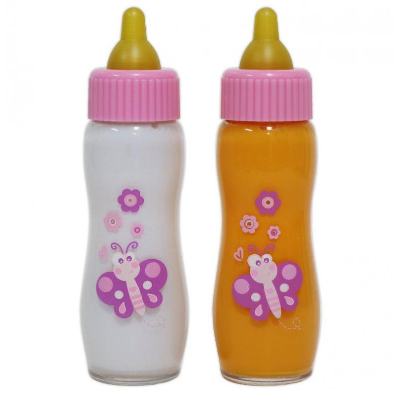 Butelki dla lalek - magiczne mleko i znikający soczek - JC Toys