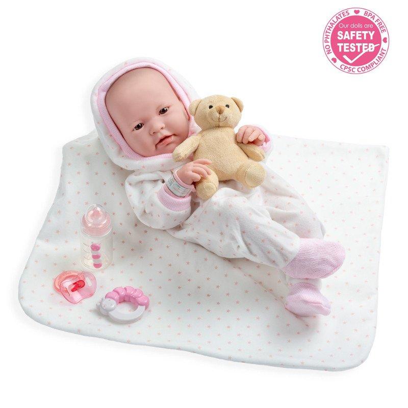 Hiszpańska lalka - La Newborn real Girl - akcesoria - JC Toys 18111