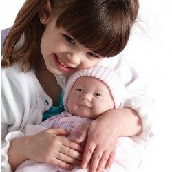 Noworodek w różowym - Hiszpańska Lalka z miękkim brzuszkiem