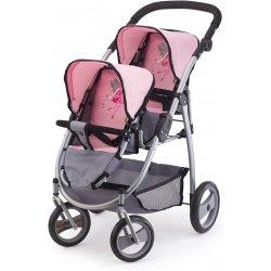 Wózek dla lalek bliźniaków - Jogging Rosa