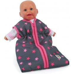Śpiworek dla lalki w różowe gwiazdki - Bayer Chic 792 82
