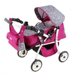Wózek dla lalek SISI - Głęboki jak i Spacerówka - 2w1