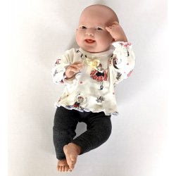 Komplet dla lalki - bluzeczka plus leginsy