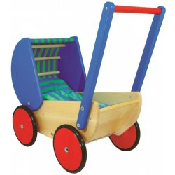 Wooden Pram for Baby Dolls - BAJO