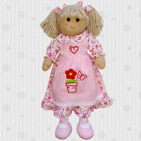 Duża lalka szmaciana - kwiatuszek - Powell Craft