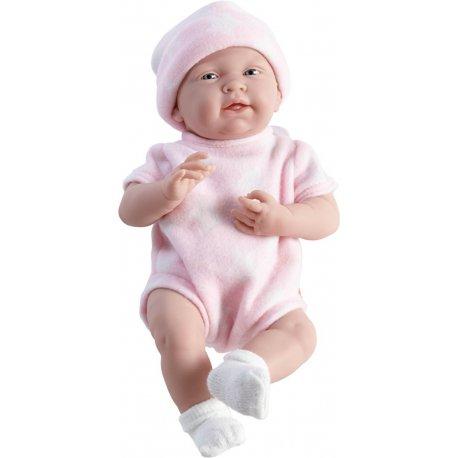 Hiszpańska lalka bobas La Newborn w różowym ubranku.