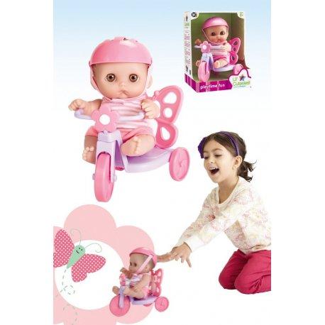 Mała laleczka Mimi na rowerku - JC Toys