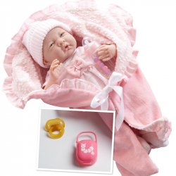 La Newborn Soft Body Boutique Baby Doll - 39 cm long - Pink