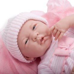 La Newborn Soft Body Boutique Baby Doll - 39 cm long - Pink