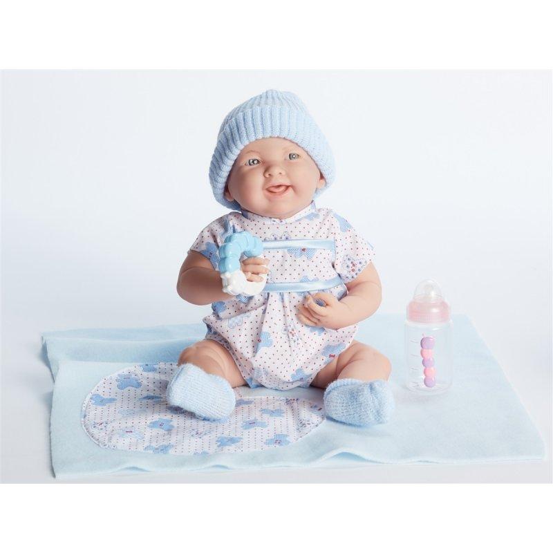Lalka Nowordek w niebieskim ubranku - akcesoria