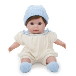 Lalka Noni - miękka lalka dla dwulatki - kremowe ubranko