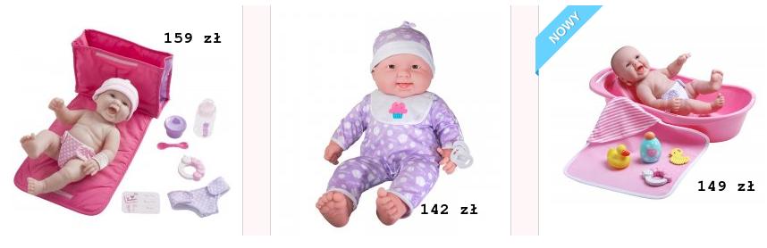 Lalki Bobasy Baby Born z akcesoriami