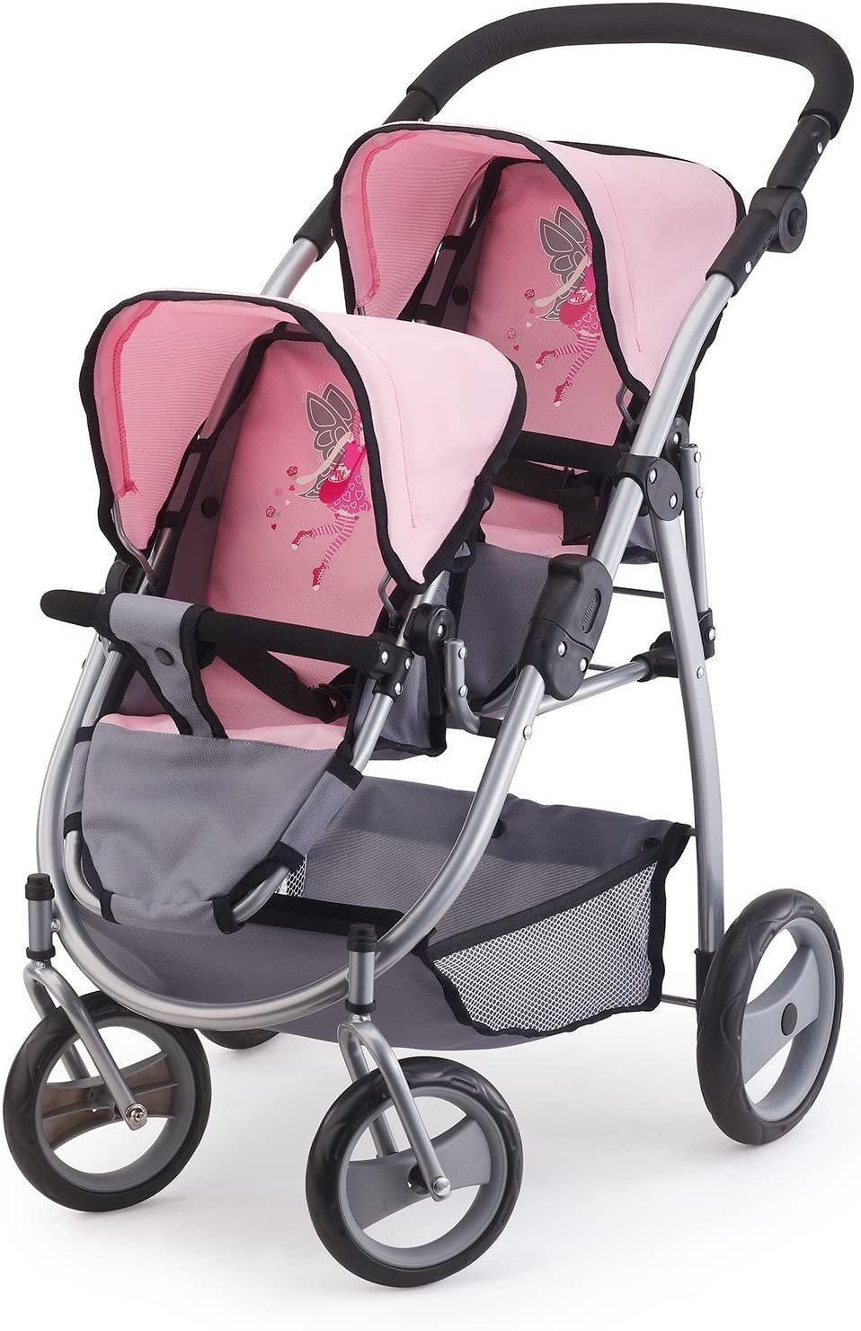 Wózek dla lalek bliźniaków - pomieści dwie lalki do 46 cm