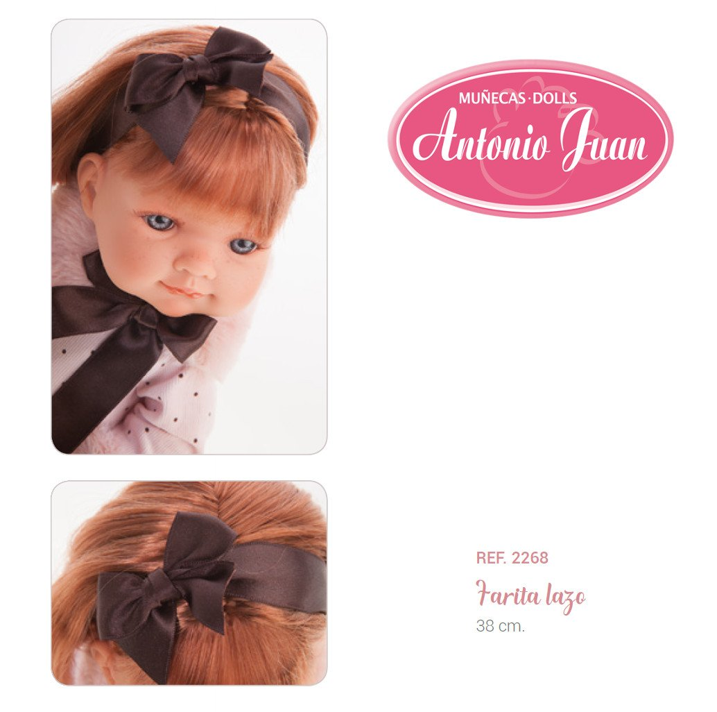 Hiszpańska lalka Antonio Juan - Farita lazo - 38 cm