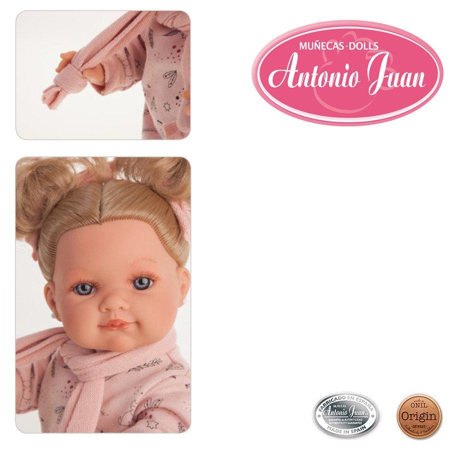 Hiszpańska lalka Antonio Juan - Farita bufanda- 38 cm - cała winylowa
