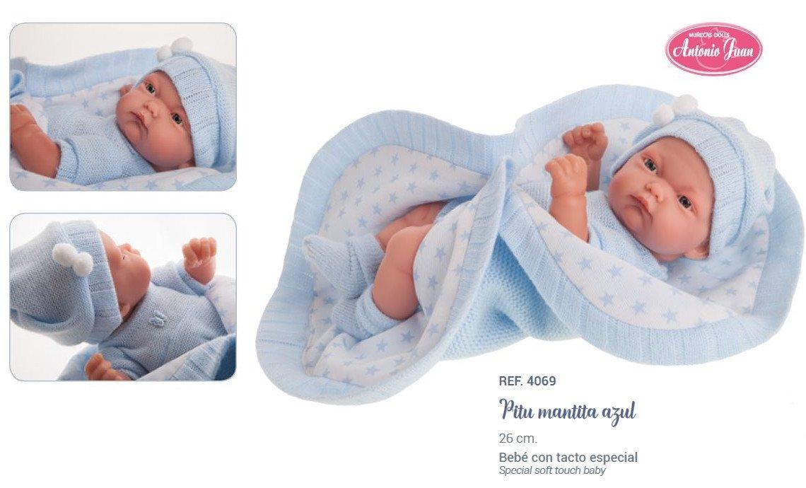 Lalka Antonio Juan - Pitus Manita Azul - 4069 - chłopiec